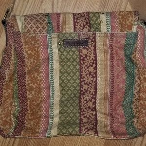 Fossil vintage patterned hippie crossbody purse
